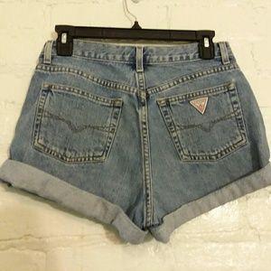Vintage GUESS denim jean shorts 80's 90's 29 EUC